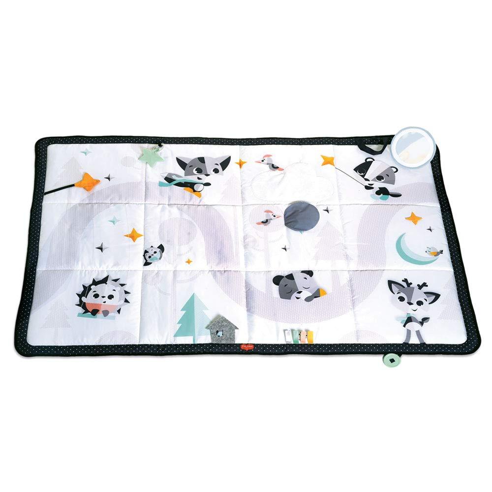 Tiny Love Súper Magical Tales Manta, amplia manta de juegos apta para niños desde el nacimiento, a partir de 0 meses, 150 x 100 cm, blanco y negro