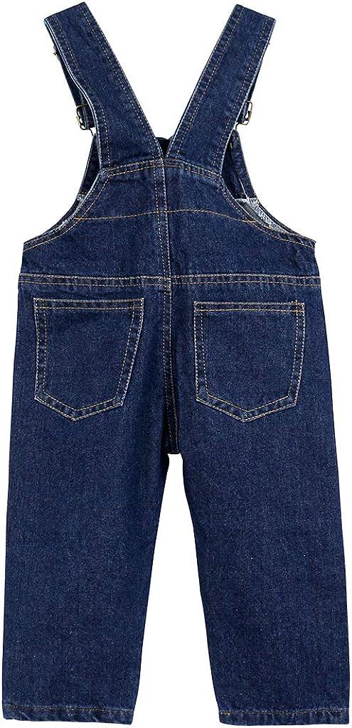 Jeans Tuta Blu Denim Ragazze Ragazzi Pantaloni Lunghe Bambino Salopette Denim r.b.hickory Salopette Bambini