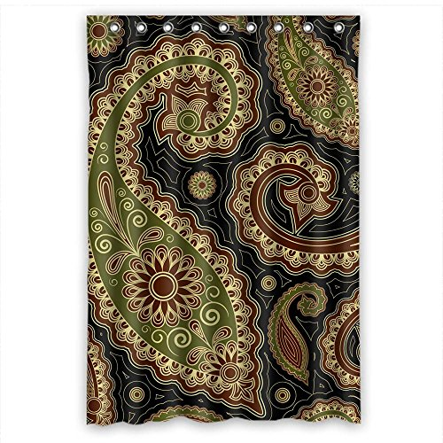 MaSoyy Polyester Paisley Retro Flower Bathroom Curtains Width X Height / 48 X 72 Inches / W H 120 By 180 Cm Best Choice For Boys Her Relatives Wife Boys. - Fashion Buffalo Of Outlets