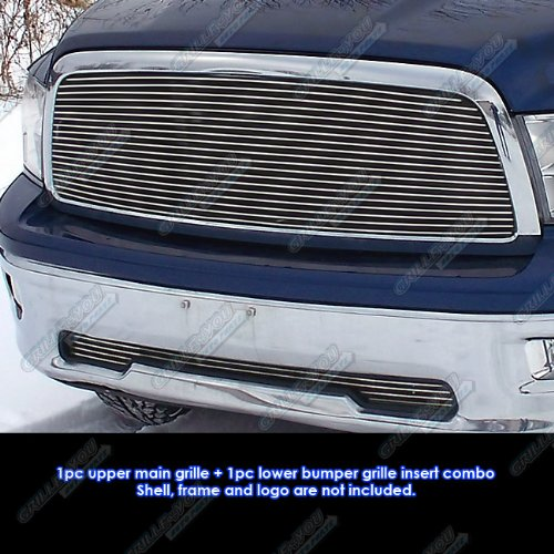 APS Compatible with 2009-2012 Dodge Ram 1500 Pickup Billet Grille Grill Combo Insert N19-A83678D