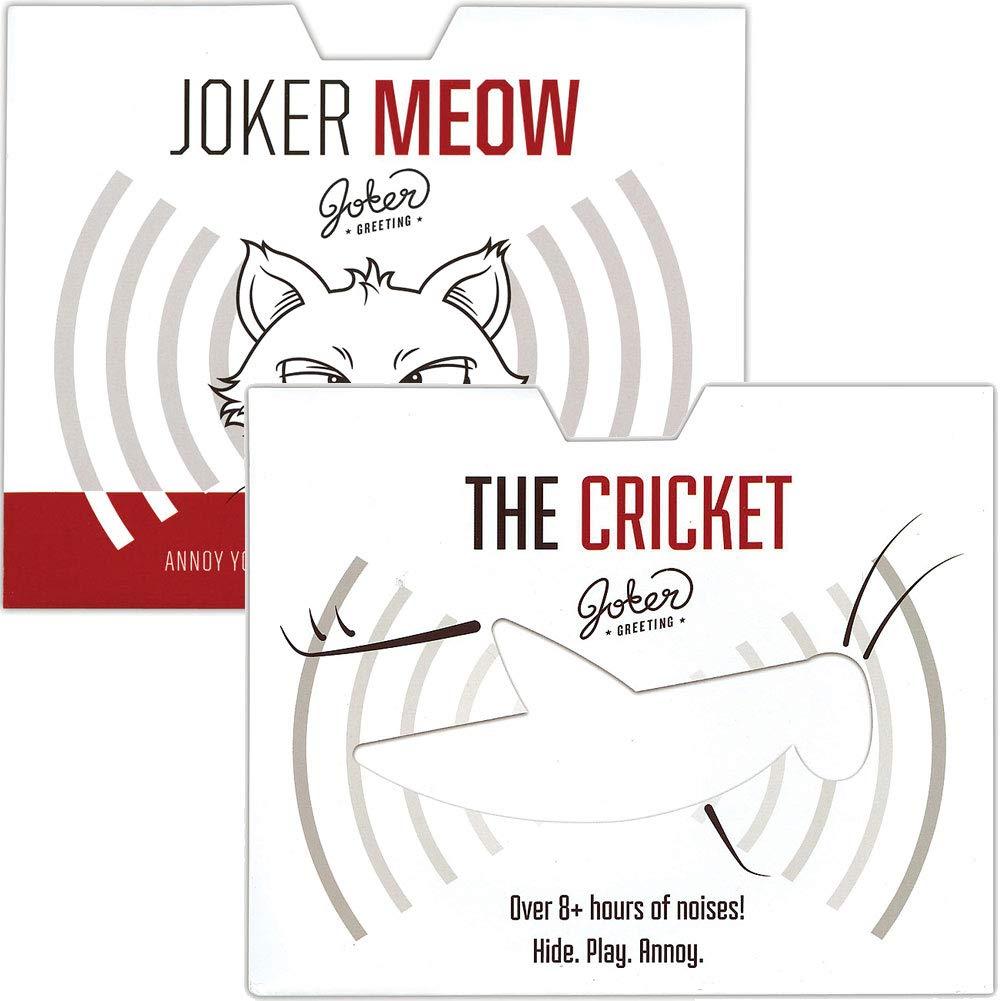 (Set) Joker Meow & Cricket Prank Cards - Watch Annoyed Friends Hide & Seek by Johnson Smith Co.