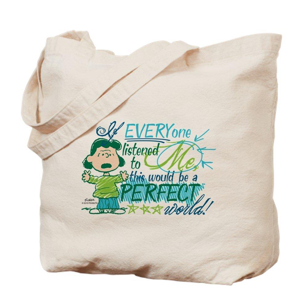 CafePress – Lucys Perfect World – ナチュラルキャンバストートバッグ、布ショッピングバッグ M ベージュ 15874130366893C B015QFSFY6 M