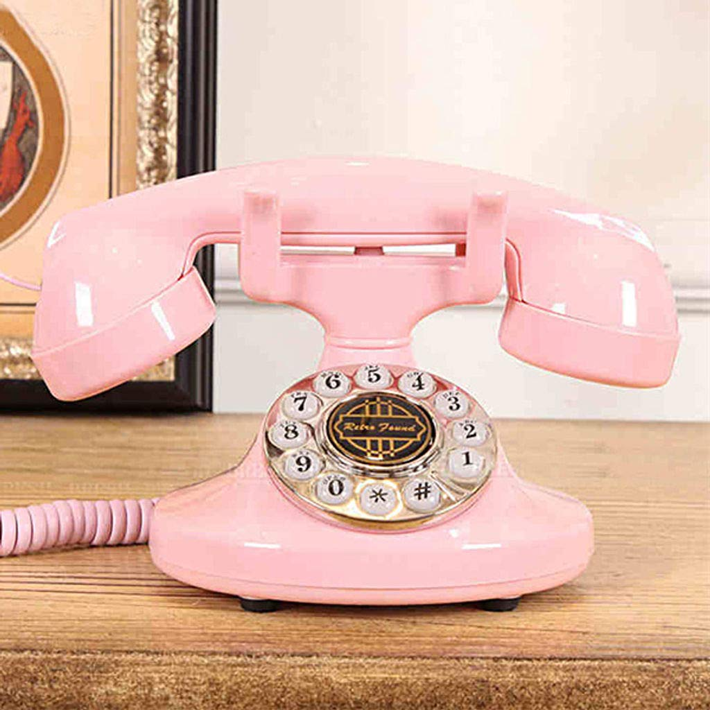 Bove Retro Telephone, Fixed Digital Creative Fashion Decorative Telephones Corded Living Room Office Phone-A by Bove