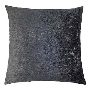 """2x fundas de cojín de chenilla de dos tonos gris oscuro 20""""55cm"""