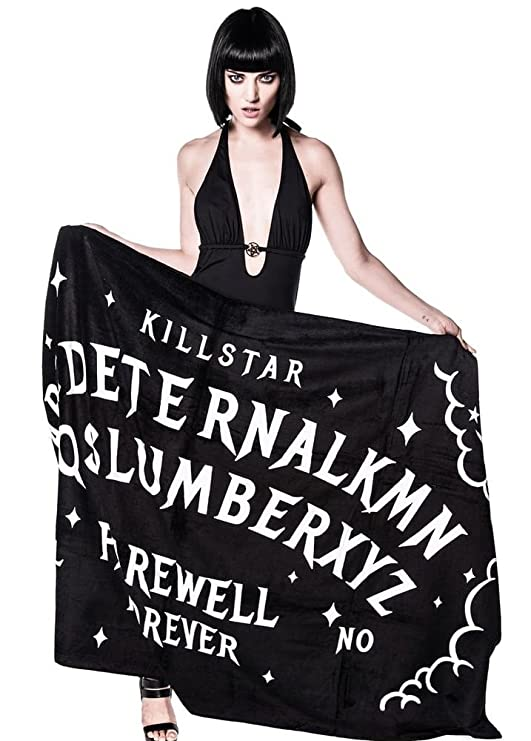 Killstar Slumber Gótico Occult Tabla Ouija de bruja grande toalla de playa negro: Amazon.es: Hogar
