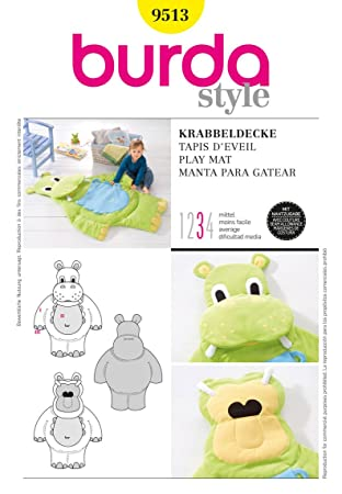Burda Nähmuster - 9513 Krabbeldecke, Größe: One Size: Amazon.de ...