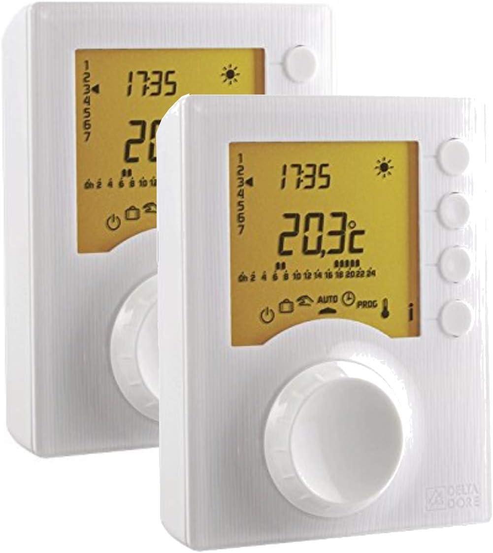 Termostato programable filiar calefacci/ón PACK Delta Dore Tybox 117