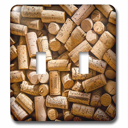 3dRose lsp_208834_2 Wine Bottle Corks On Display In Saint Germain Des Pres, Paris France - Double Toggle Switch