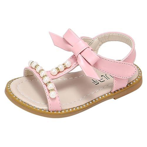 0a87bc4178b4fc OHQ Scarpe per Neonato, Sandali da Spiaggia di Fiori Ragazze Rosa Bianca  Bambino Principessa Romane