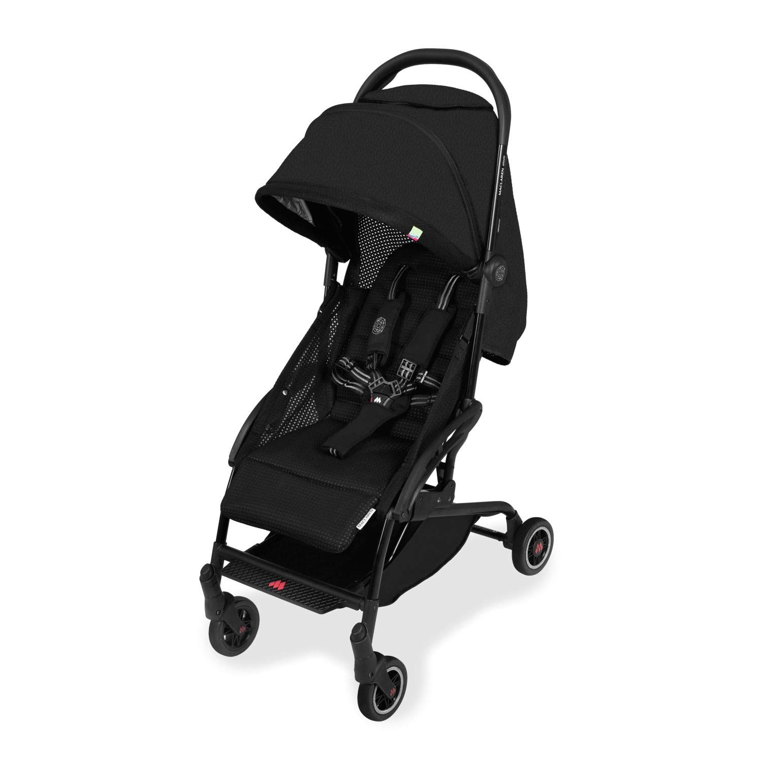 Maclaren Atom Style Set Travel System- Super Lightweight, Ultra-Compact Stroller, Fits On Airplane's Overhead Storage. Car Seat Compatible. Loaded with Accessories. Multi-Position Reclining Seat by Maclaren