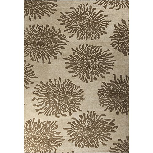 Surya Bombay BST-493 Contemporary Hand Tufted 100% New Zealand Wool Camel 9' x 13' Floral Area Rug