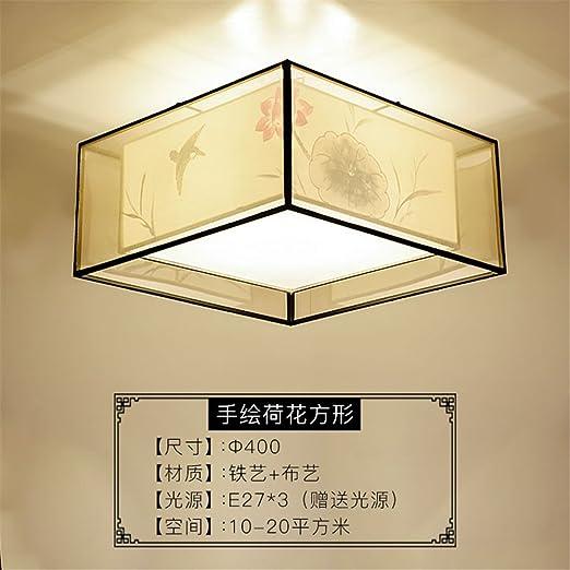 Gunxifacai Lámpara de techo chino clásico Lámparas LED se ...