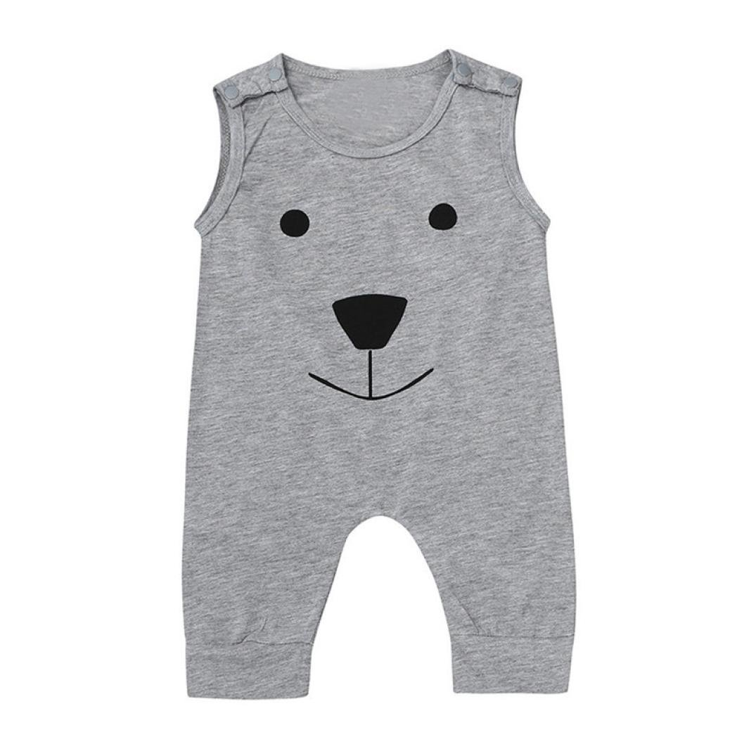 Fashion Newborn Infant Toddler Baby Boys Girls Bear Jumpsuit Romper Playsuit Outfits Clothes Xshuai for 0-18 Months Kids