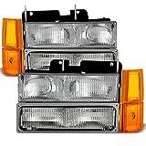 94-99 GMC Full Size Pickup Truck Suburban Sierra OE Style Headlights w/Corner + Bumper Signal Lamps