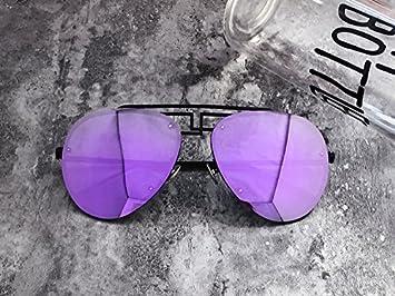 LXKMTYJ Gafas de sol de película de color Mercurio Bastidor Grande cara redonda gafas polarizadas sapo