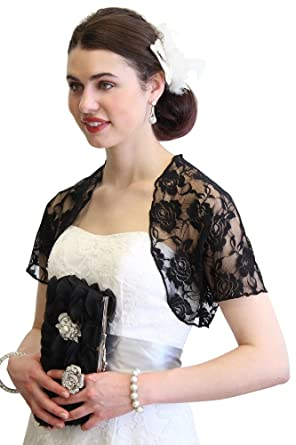 Womens Lace Bolero Jacket With Short Sleeve at Amazon Women's ...