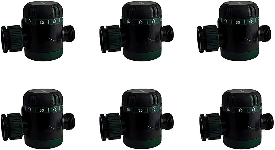 Instapark MWT-08 Outdoor Garden Hose End Automatic Shut-Off Mechanical Water Timer Pack of 6