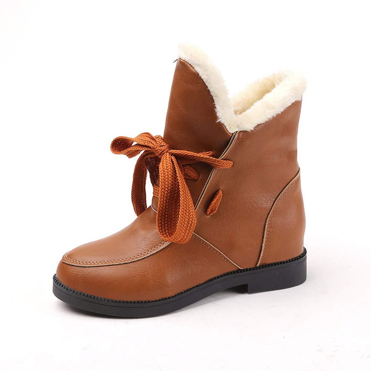 KPHY Damenschuhe/Mode, Stiefeln, Mit Hohen 2Cm, Mode, Frenulum, Studenten, Warm Und Samt, Hohe Baumwoll - Schuhe.