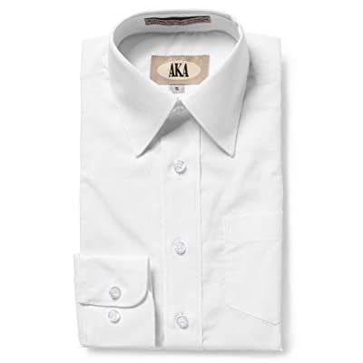AKA Boy's Husky Fit Long Sleeve Solid Dress Shirt - White - 10H