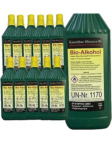 12 litros de bio-etanol de alto rendimiento/Con protección de menores y boquillas