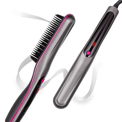 Amazon.com: Cepillo alisador de pelo, cepillo de plancha ...