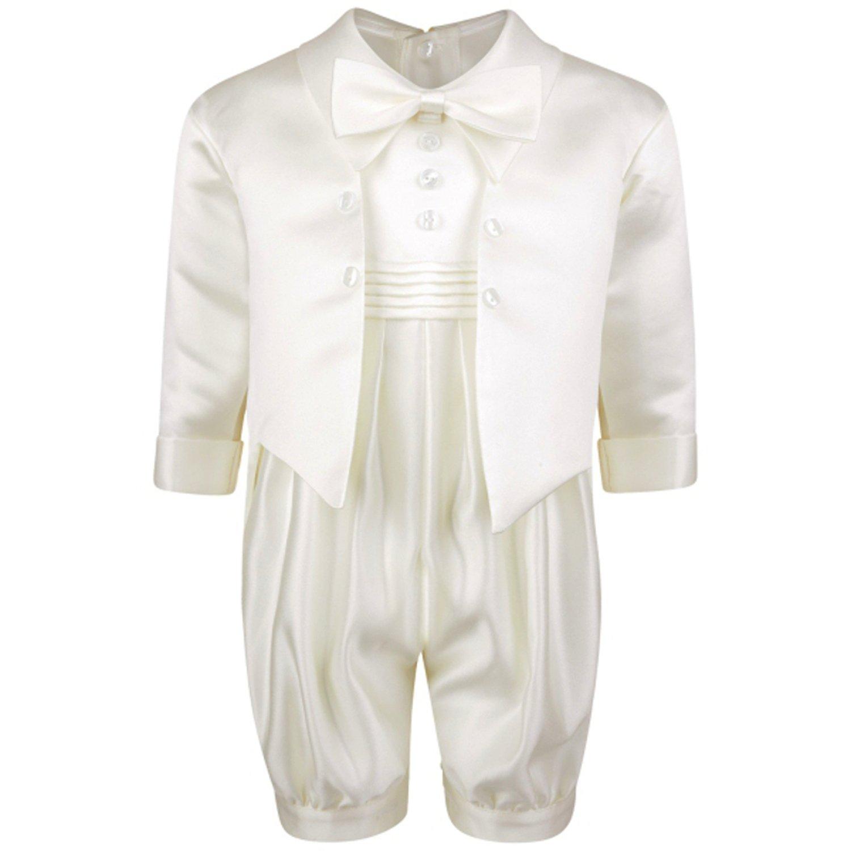 Vivaki Baby Boys 2 Piece Suit 0m-18m Page Christening Wedding Romper Paisley Waistcoat
