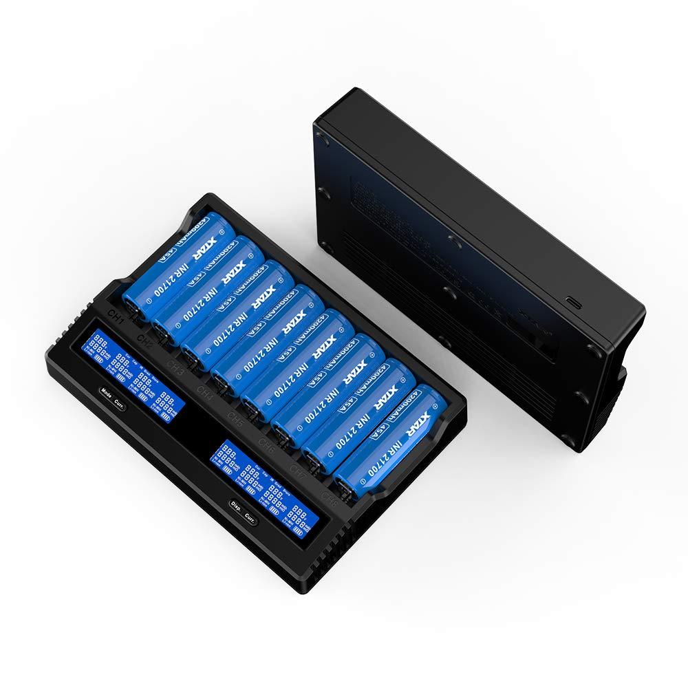 Amazon.com: Cargador de batería USB C 21700 XTAR VC8 Tipo C ...