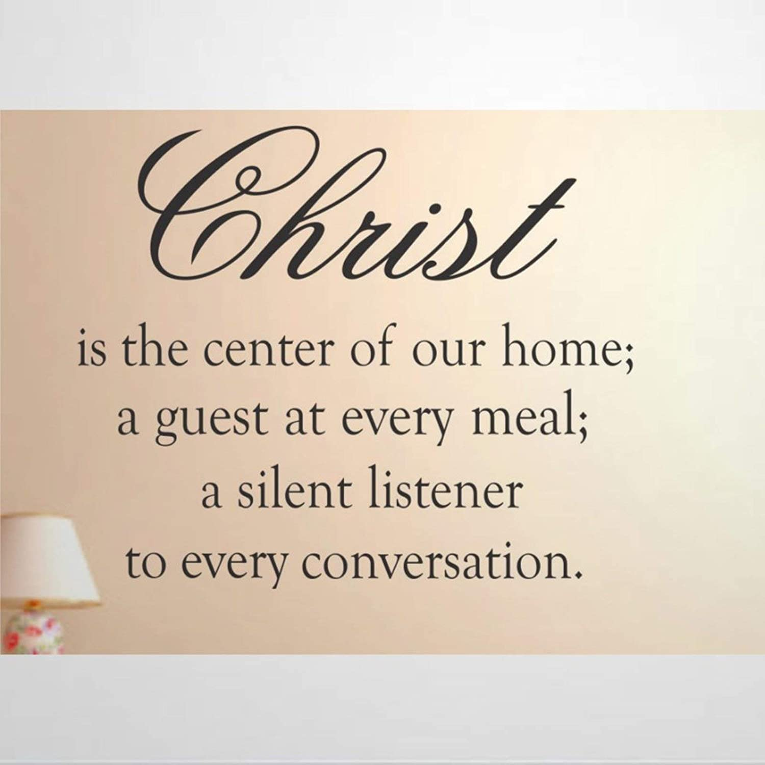 Christ is The Center of Our Home Wall Sticker, Vinyl Wall Decal,Decor for Windows,Living Room,Bumper,Laptop,Tumbler,Bathroom Home Decor