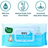 Mother Sparsh 99% Water Wipes (72 Unscented Baby Wipes) - Super Thick Fabric
