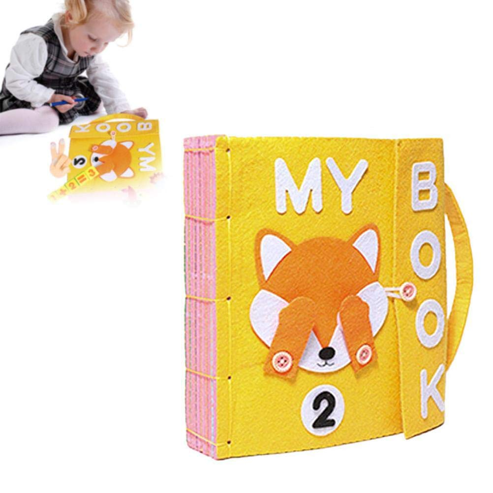 X-CRAFT Handmade Baby Book Book Felt Quiet Books Baby Early Cognitive Development Toys Handmade Educational Book Toys for Children Kid Baby Gift by X-CRAFT