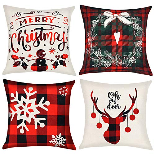 4 xmas cushion covers