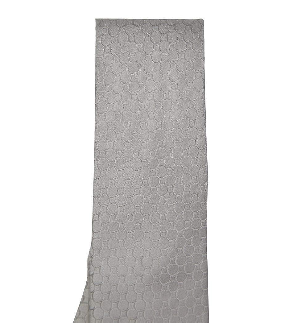 Sergio Carignani Mens 10013CHAMPAGNE Silver Silk Tie
