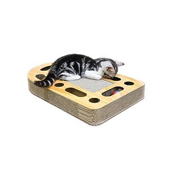 Biback Rascador Alfombra de Gato rascador Tabla de Gatos Garras Cuidado Juguete Educativo: Amazon.es: Productos para mascotas