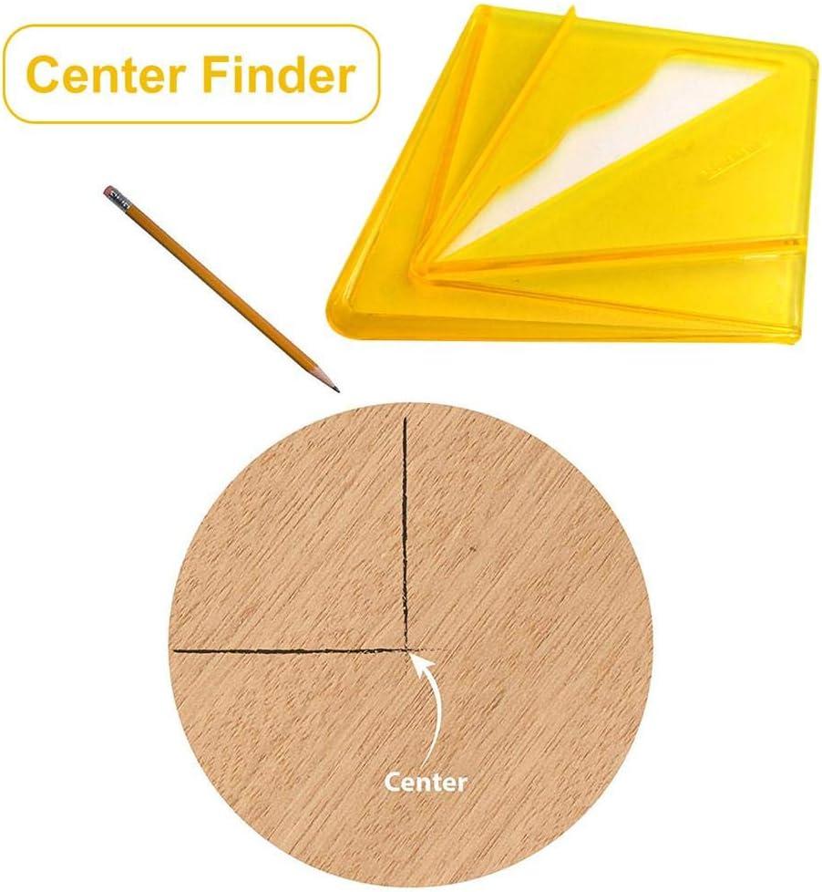 puntero de centrado los corazones profesionales /ángulo de centrado para materiales redondos y rectangulares medidor de l/ínea herramienta de giro de torre Ardentity Centre Finder