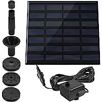 1.4 W pileta fuente, maxin potencia bomba Panel Kit sumergible agua bomba de agua Solar para aves baño, pecera, estanque…