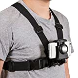 Chest Harness Strap Mount for Sony Action Cam/Gopro POV Sports Camera/SJCAM Action Camera/Cell Phone and Smartphone