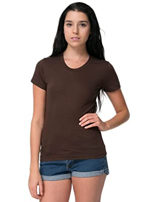 American Apparel Poly-Cotton Short Sleeve Women's T-Brown