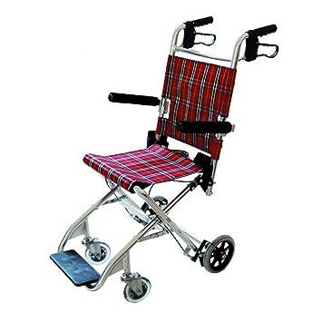 Ideal Sedia A Rotelle Pieghevole Per Trasporto Con Braccioli E Poggiapiedi Fissi Carrozzina Per Disabili Dimensioni Della Seduta 33x31 Cm Altezza