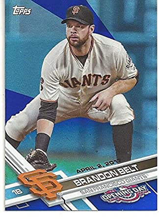 Brandon Belt Rainbow Foil Short Print Collectible Baseball
