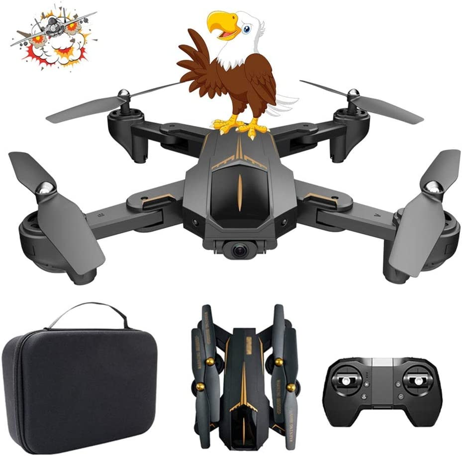 WXFXBKJ Drones GPS, Nuevo XS812 RC Drone con cámara HD de 4K 5G WiFi FPV Altitud Hold One Tecla Devuelve RC Quadcopter Helicopter vs XS809S E58 E502S (Color : 4K 4B with Bag)