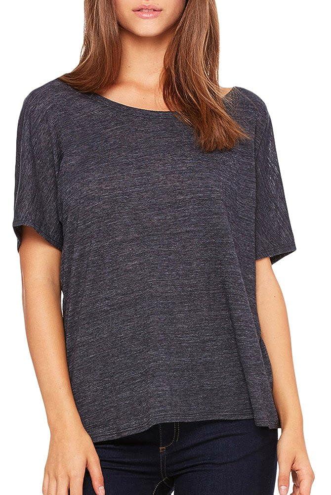 ffd89c68e Bella + Canvas Womens Slouchy T-Shirt (8816) BLACK SLUB at Amazon Women's  Clothing store: