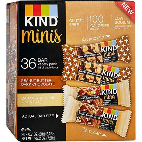 KIND Bar Gluten Free, Low Sugar (.Minis Variety Pack, 36 Bars)
