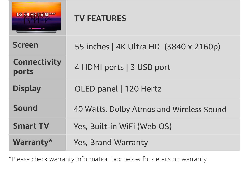 Lg 138 Cm 4k Uhd Oled Smart Tv Oled55c8pta Amazonin Electronics