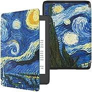 Capa para Novo Kindle 10a geração (aparelho com iluminação embutida) - rígida - sistema de hibernação - Noite