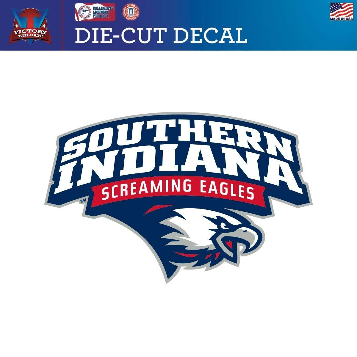 Victory Tailgate Southern Indiana Screaming Eagles Die-Cut Vinyl Decal Logo 1