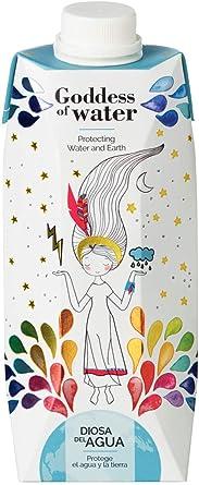 Diosa del Agua - Agua en Cartón con PH 7.5 Envase 100% Reciclable 500 ml, Pack de 9 Unidades   Agua Purificada en Caja de Mineralización Muy Débil   Agua En Brick: Amazon.es: Alimentación y bebidas