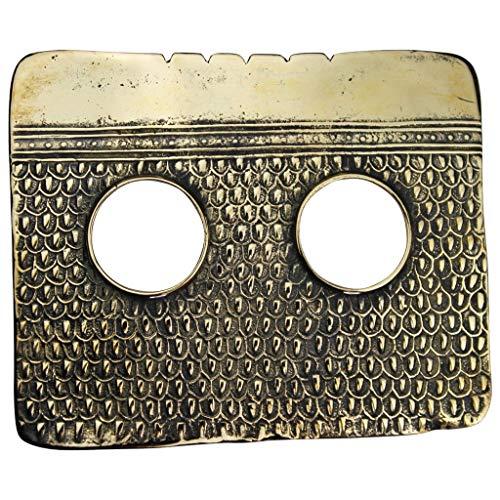 Tabra Women's 925 Antiqued Bronze Tribal Pattern Belt Buckles Treasure Rare from Esme's Vault