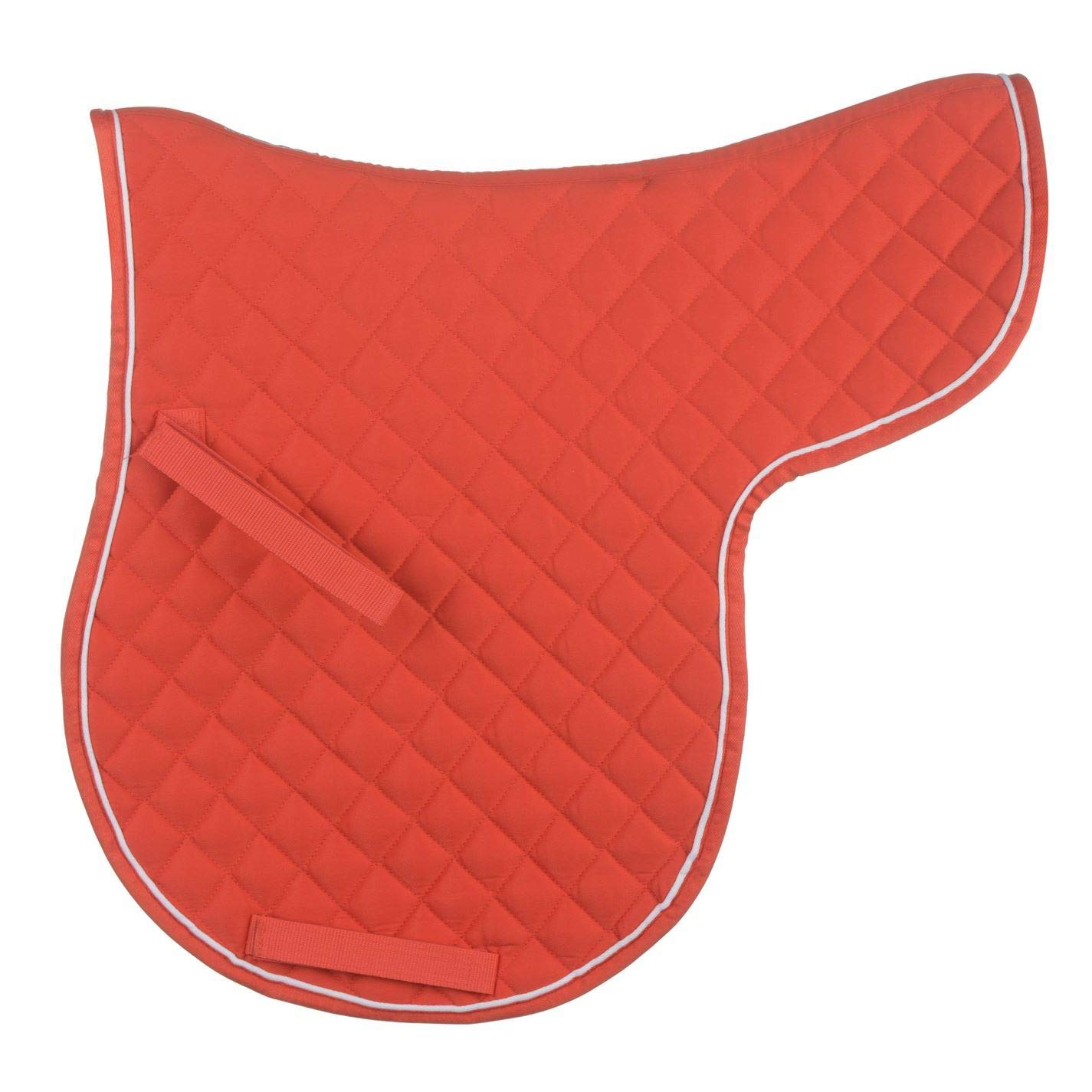 Red   White Full Red   White Full Roma Grand Prix High Wither Numnah Saddle Pad Cloth Horse Riding Tack