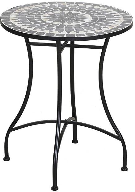 Gartentisch rund mosaik  Amazon.de: TrendLine Tisch Bretagne Mosaik rund ß: 60 cm H: 72 cm ...