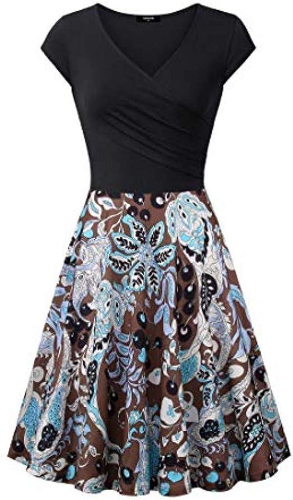 Transer- Retro V Neck Dress...